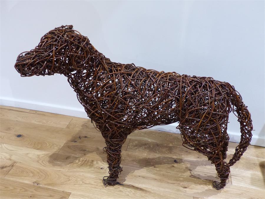 Lot 57 - Willow Dog Sculpture