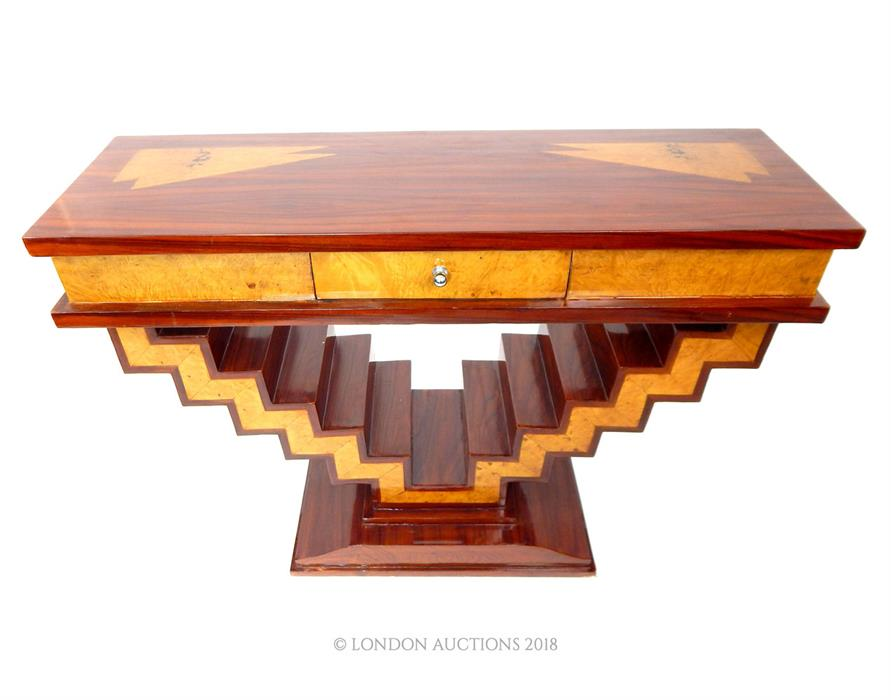 Lot 23 - An Art Deco style console table