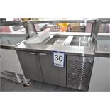 2-door ERL refrigerated prep. counter, 48'' c/w sneeze guard / Table réfrigérée…..
