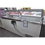"""2-door ice cream fridge, 90'', c/w integrated compressor / Réfrigérateur à crème glacée de 90"""" …….."""