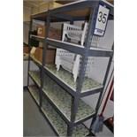 Lot: (2) metal shelves / étagères en métal gris