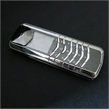 Lot 19 - Vertu Signature Classic Phone in Platinum (950) with Platinum Functional Keys & Outer Cover.