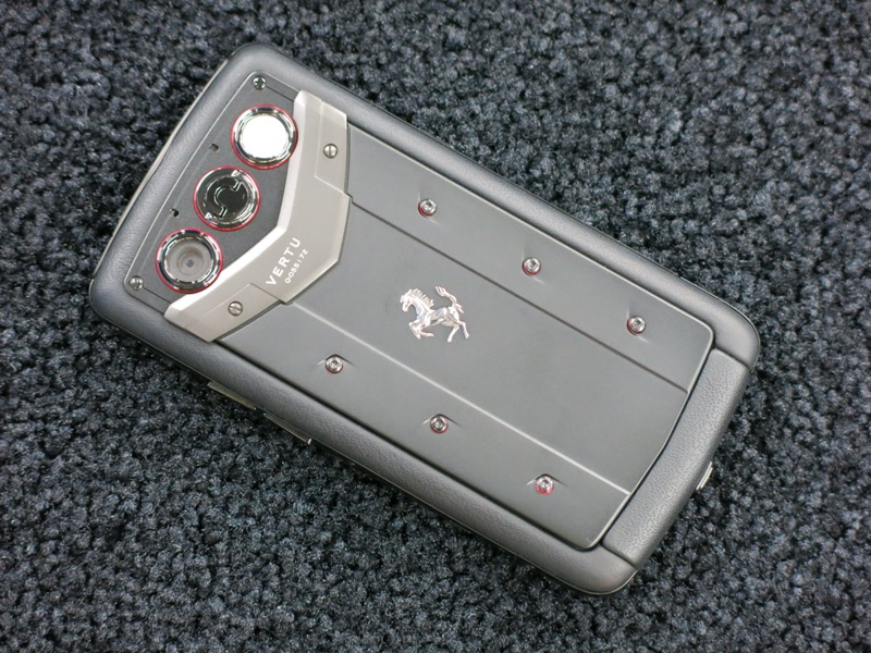 Lot 40 - Vertu Ferrari Quest Edition Phone in Black Ceramic with Sapphire Keys. Comes with Full Sales Pack (
