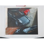 "Lot 9 - Limited Edition Lithograph ""Vertu Ascent Ferrari 60 Limited Edition"". 15 of 60 Copies Signed by"