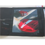 Lot 10 - 2 x Prints of Designs by 'Enzo Naso'. Depicting Ferrari's for the Ferrari VERTU Collection &