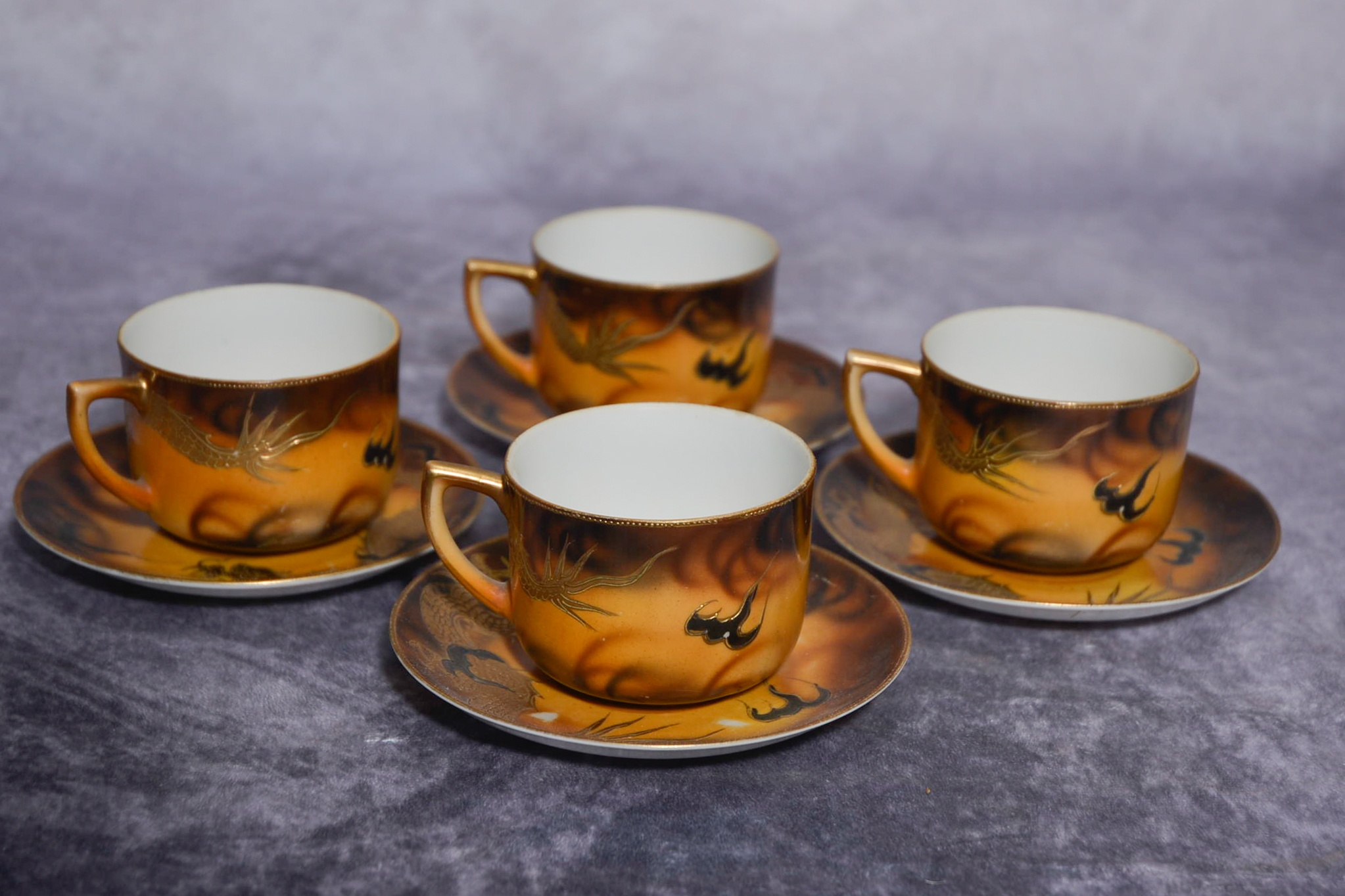 Set of four Japanese cups and saucers - Image 2 of 2
