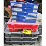 ASSORTED EMPTY PLASTIC SCREW BINS