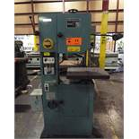 "BIRMINGHAM KB-36 METAL CUTTING VERTICAL BAND SAW WITH 16""X20"" TABLE, 14"" THROAT, 9"" MAX. WORK"