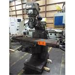 "EX-CELL-O NO. 602 VERTICAL MILLING MACHINE WITH 9""X52"" TABLE, SPEEDS TO 4000 RPM, 1.5 HP, S/N:"