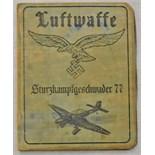 Lot 336 - German WWII Luftwaffe Stuka Pilots ID Card, 'Sturzkampfgeschwader 77' named to Hermann Huferback.