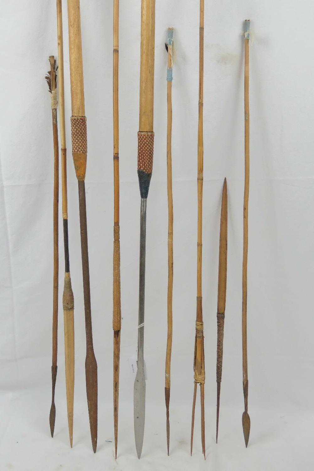 Lot 661 - Two 20th century tribal spears, each hav