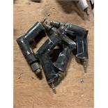 LOT OF 4 PNEUMATIC NAIL GUNS
