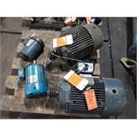 LOT OF (4) ELECTRIC MOTORS INCLUDING; (1) CENTURY 15HP (1) RELIANCE 15HP (1) LEESON 2HP (1)