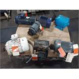 LOT OF (7) ELECTRIC MOTORS BRANDS INCLUDING; DELCO BALDOR WESTINGHOUSE LEESON LINCOLN (ALL 3HP)