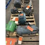 LOT OF (5) ELECTRIC MOTORS BRANDS INCLUDING; IMPERIAL GOULD RELIANCE BAUKNECHT (5HP 1 UNKOWN)