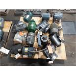 LOT OF (14) ELECTRIC MOTORS BRANDS INCLUDING; BALDOR TOSHIBA GOULD GE RELIANCE WESTINGHOUSE