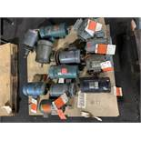 LOT OF (12) ELECTRIC MOTORS BRANDS INCLUDING; MARATHON OHIO DAYTON RELIANCE HAMPTON BALDOR (4 HP-