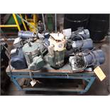 LOT OF (8) ELECTRIC MOTORS INCLUDING; (6) LEESON 3/4HP (1) RELIANCE 2HP (1) RELIANCE 1HP