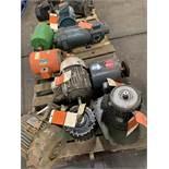 LOT OF (6) ELECTRIC MOTORS BRANDS INCLUDING; MARATHON CENTURY ATOM MISC. (UNKNOWN- 10 HP)