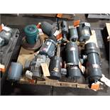 LOT OF (11) ELECTRIC MOTORS BRANDS INCLUDING; GE BALDOR DAYTON RELIANCE (1/2 HP-1 HP)