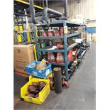 CONTENTS OF SHELVES: VICTAULIC PIPE FITTINGS IRON PIPE BELT MATERIAL MISC.