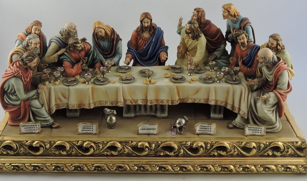 A large capodimonte italian porcelain group depicting the last lot 247 a large capodimonte italian porcelain group depicting the last supper thecheapjerseys Images