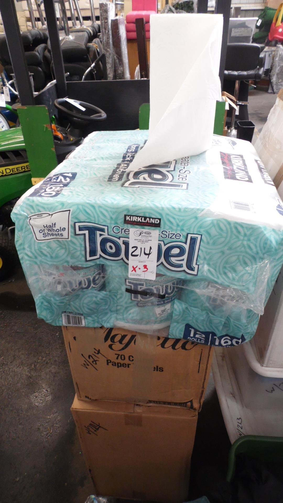 Lot 214 - CASES OF PAPER TOWELS