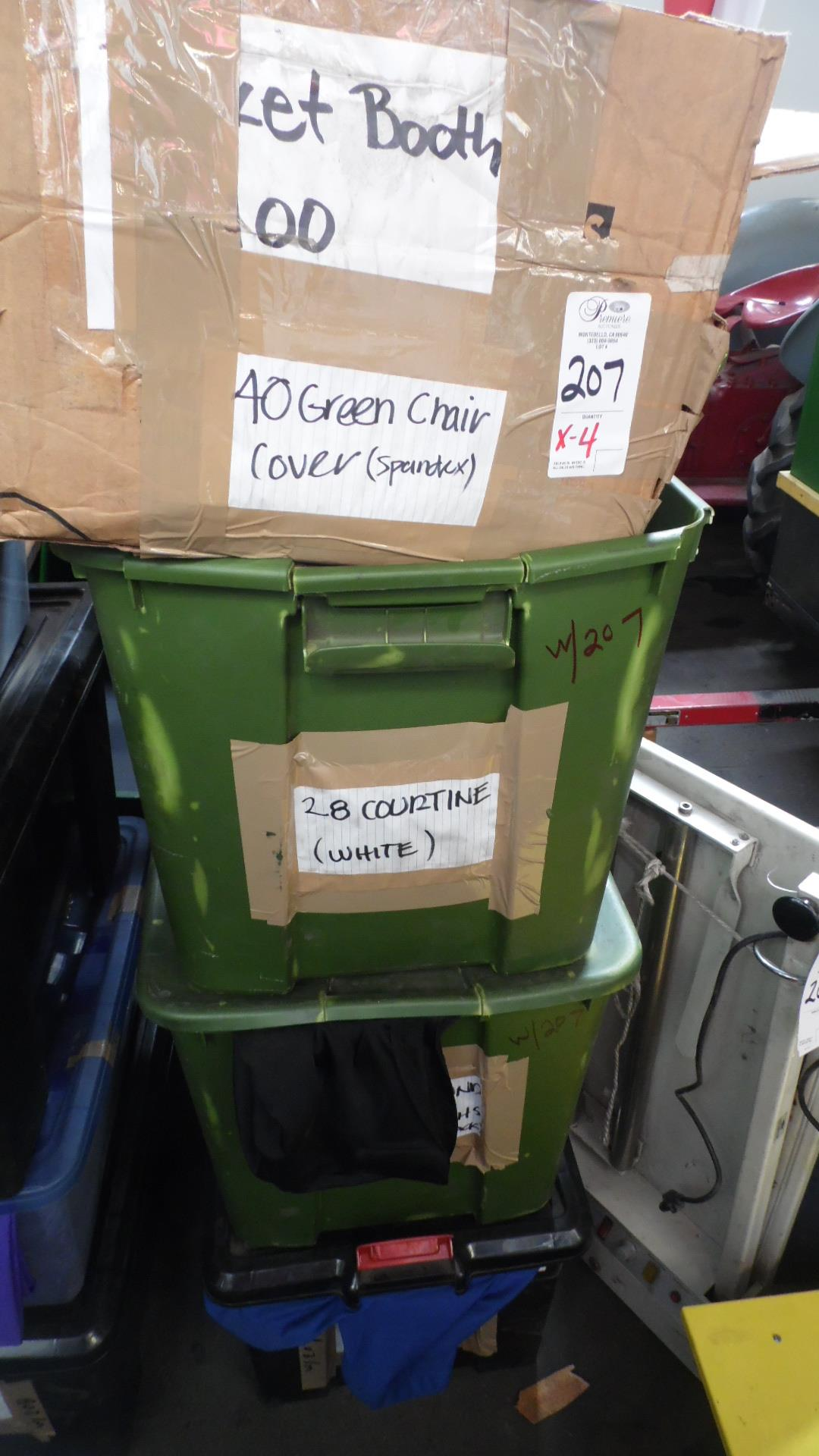 Lot 207 - CASES OF TABLE CLOTHS & COVERS