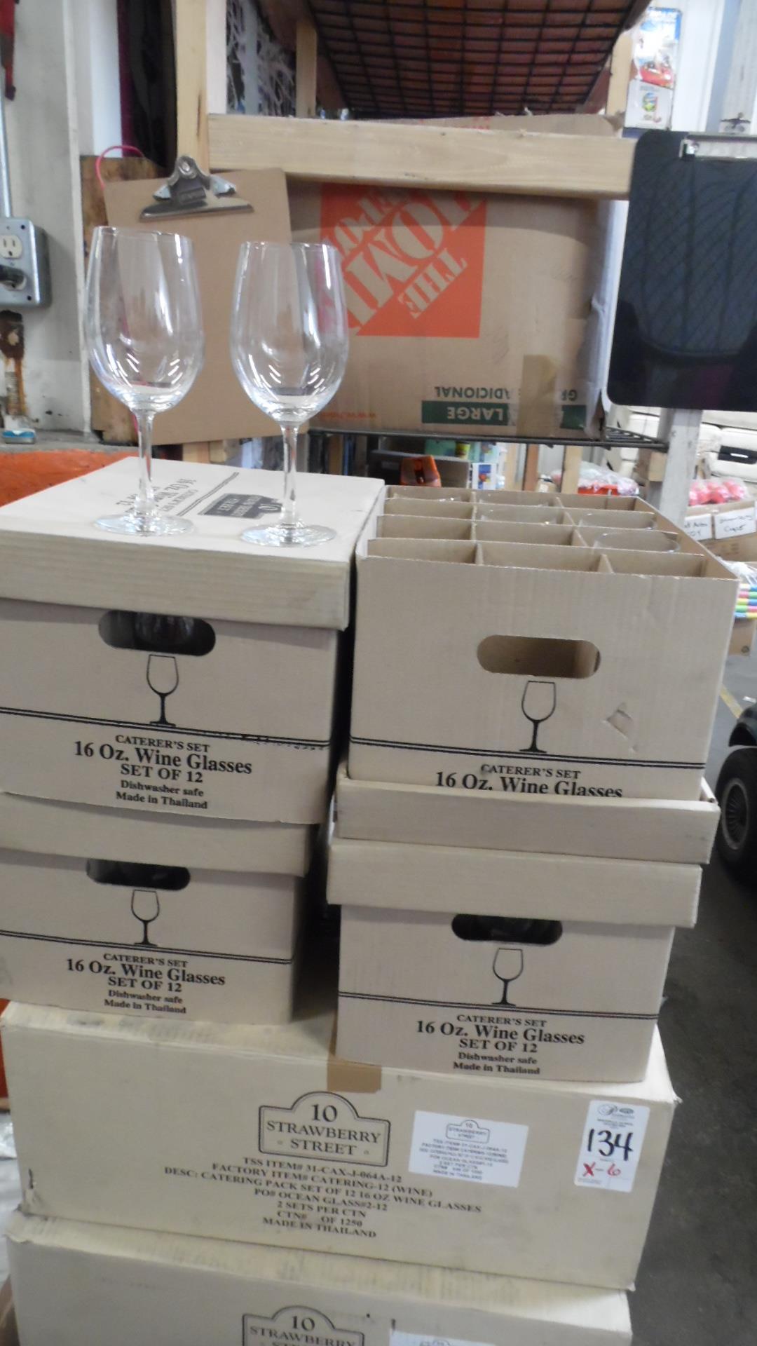Lot 134 - CASES STRAWBERRY ST WINE GLASSES
