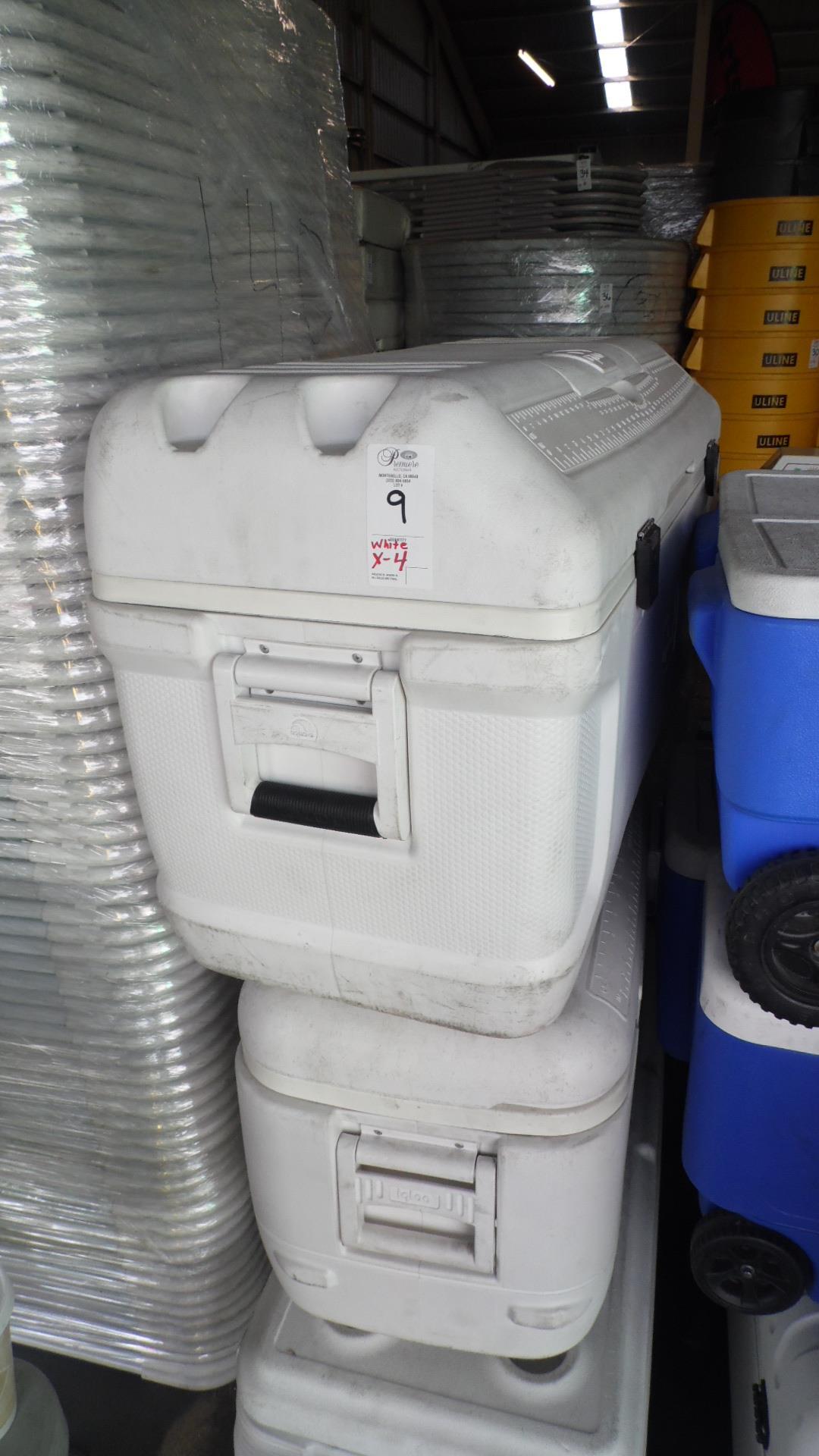 WHITE IGLOO ICE CHESTS