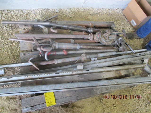 Lot 26 - Barrel pumps, garage door track