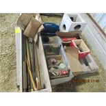 Canes, hammer handles, concrete septic drop box