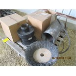 Air cleaner, brush, sand blast pot