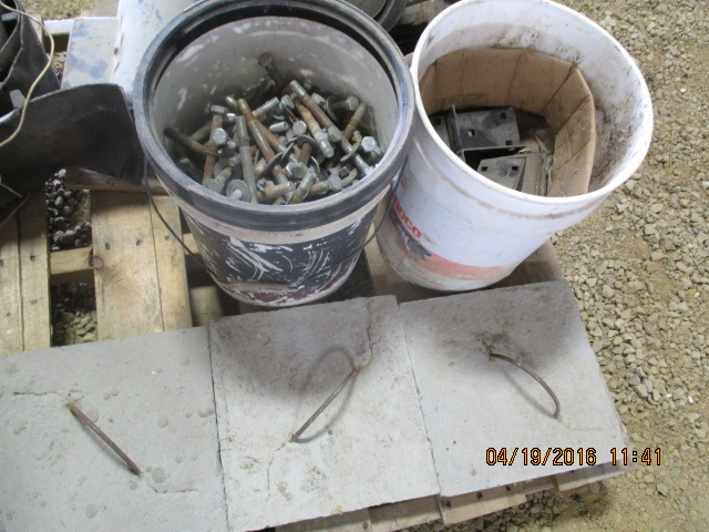 Lot 15 - Elec motor, bolts, misc