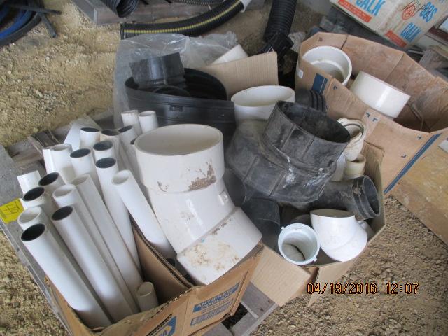 Lot 49 - Pallet w/PVC fittings, elbows