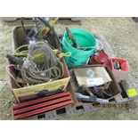 Hazard reflectors, rope, levels, misc