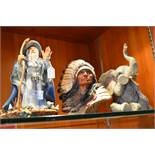 Figurine of Merlin, Elephant and a First Nation In