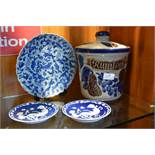 Rumtopf, Antique Blue & White Dishes, and a Chines