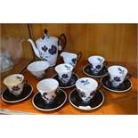 Royal Albert Masquerade Pattern Coffee Set 15 Piec