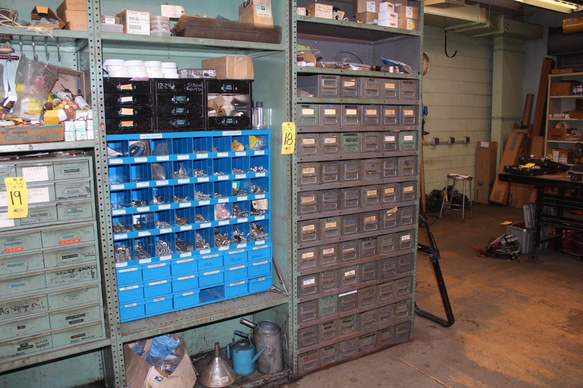 ASST. FITTINGS & HARDWARE & (2) SHELF UNITS W/ DRAWERS & SORTERS - Image 2 of 2