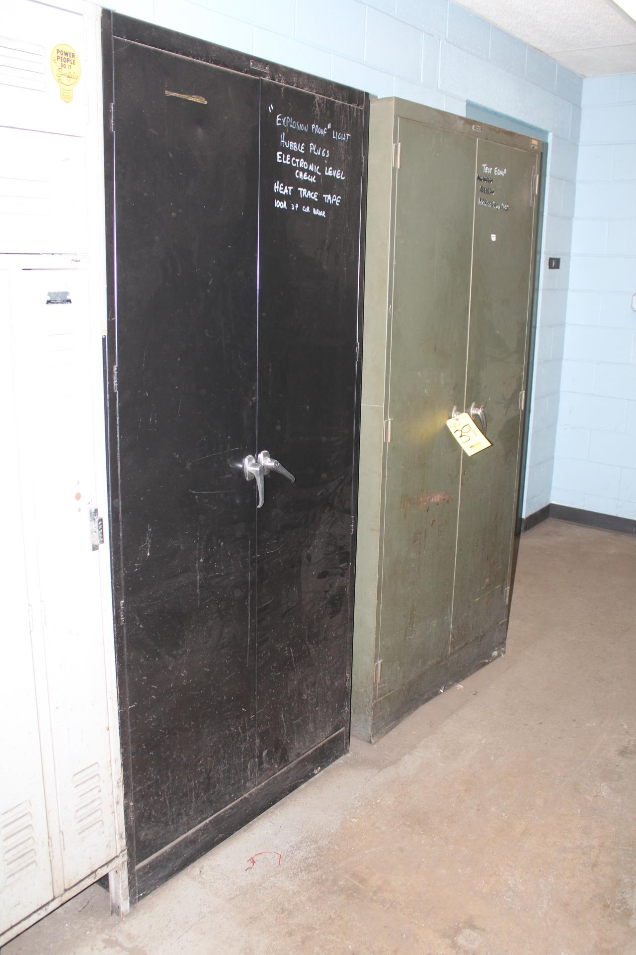 (2) DBL DOOR SUPPLY CABINETS