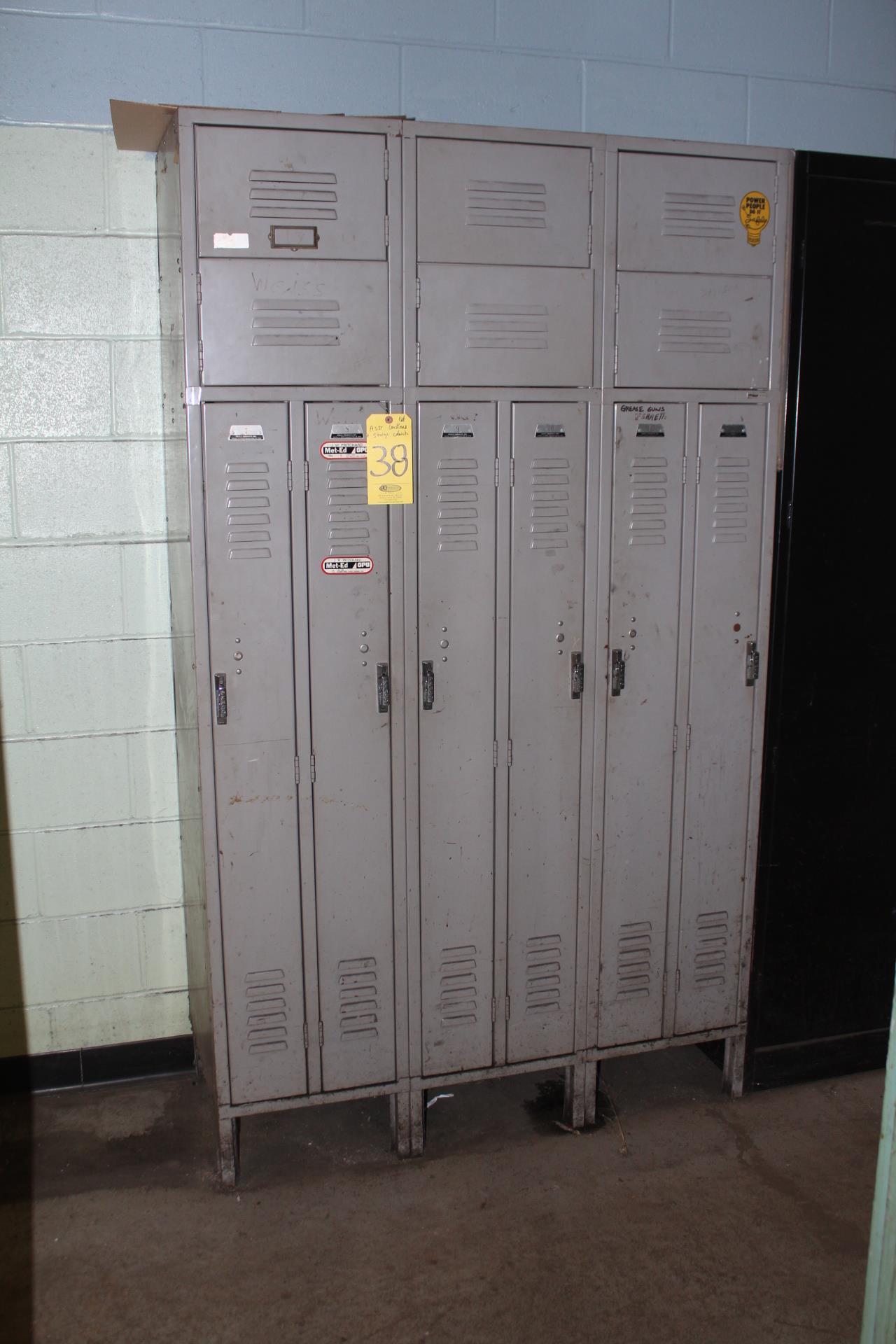 (6) FULL DOOR & SHOE LOCKER SETS
