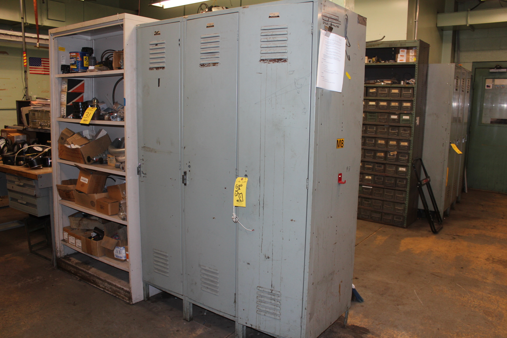 (6) LOCKERS & DD SUPPLY CABINET - Image 2 of 2
