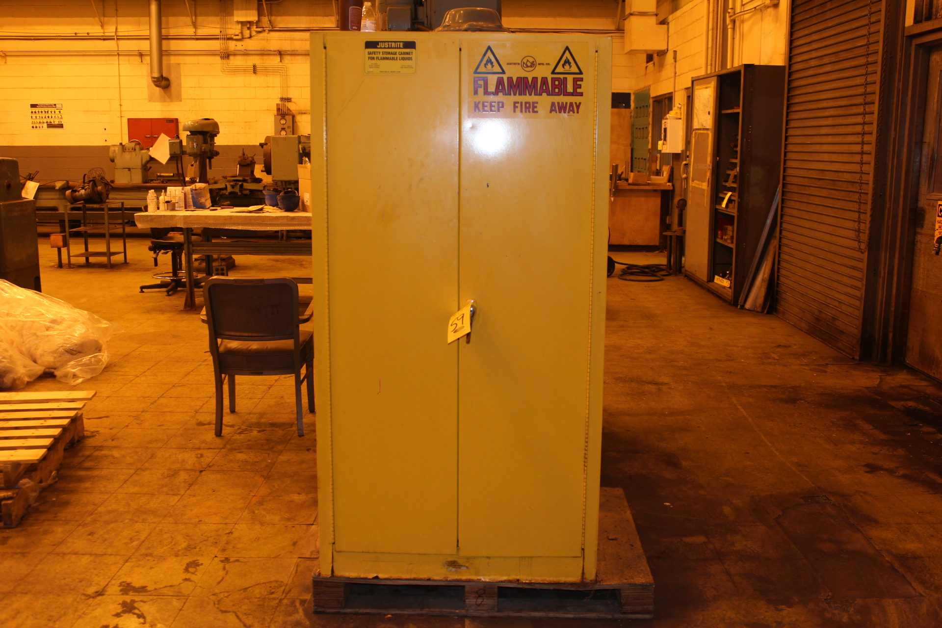 JUSTRITE FLAMMABLE PROOF 60 GALLON CABINET