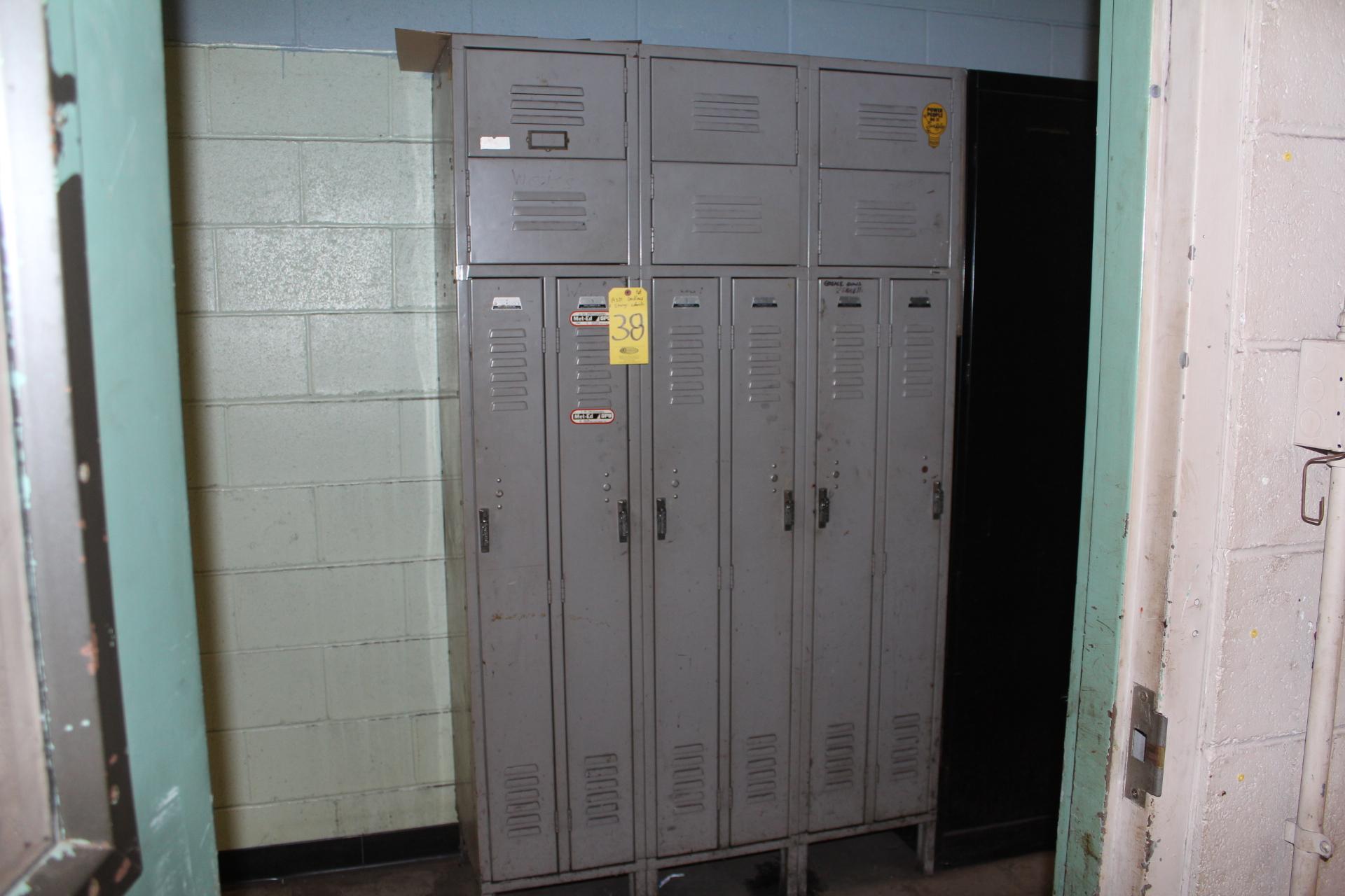 (6) FULL DOOR & SHOE LOCKER SETS - Image 2 of 2
