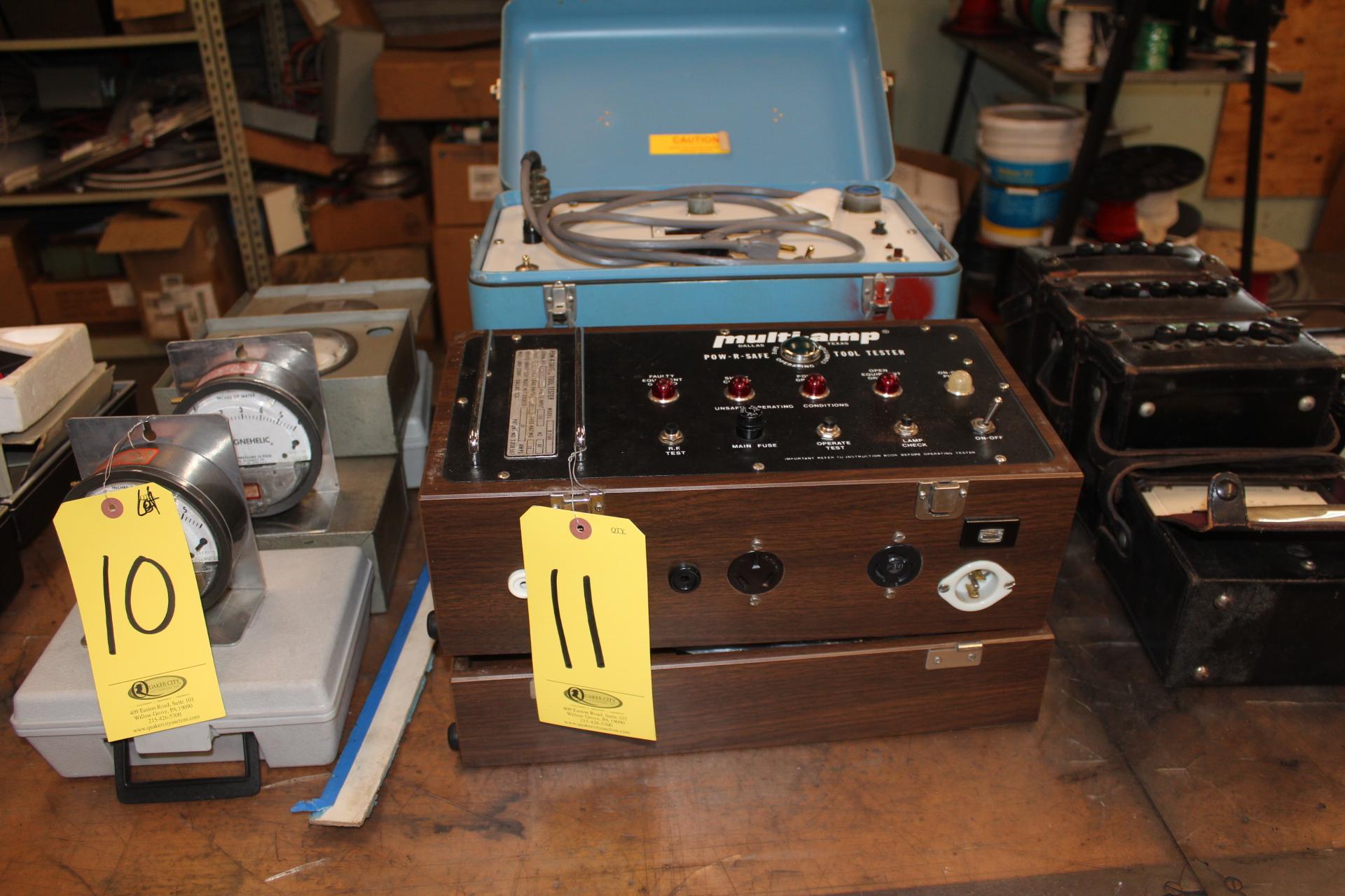 BIDDLE DLRO & MULTI-AMP POW-R-SAFE TOOL TESTER