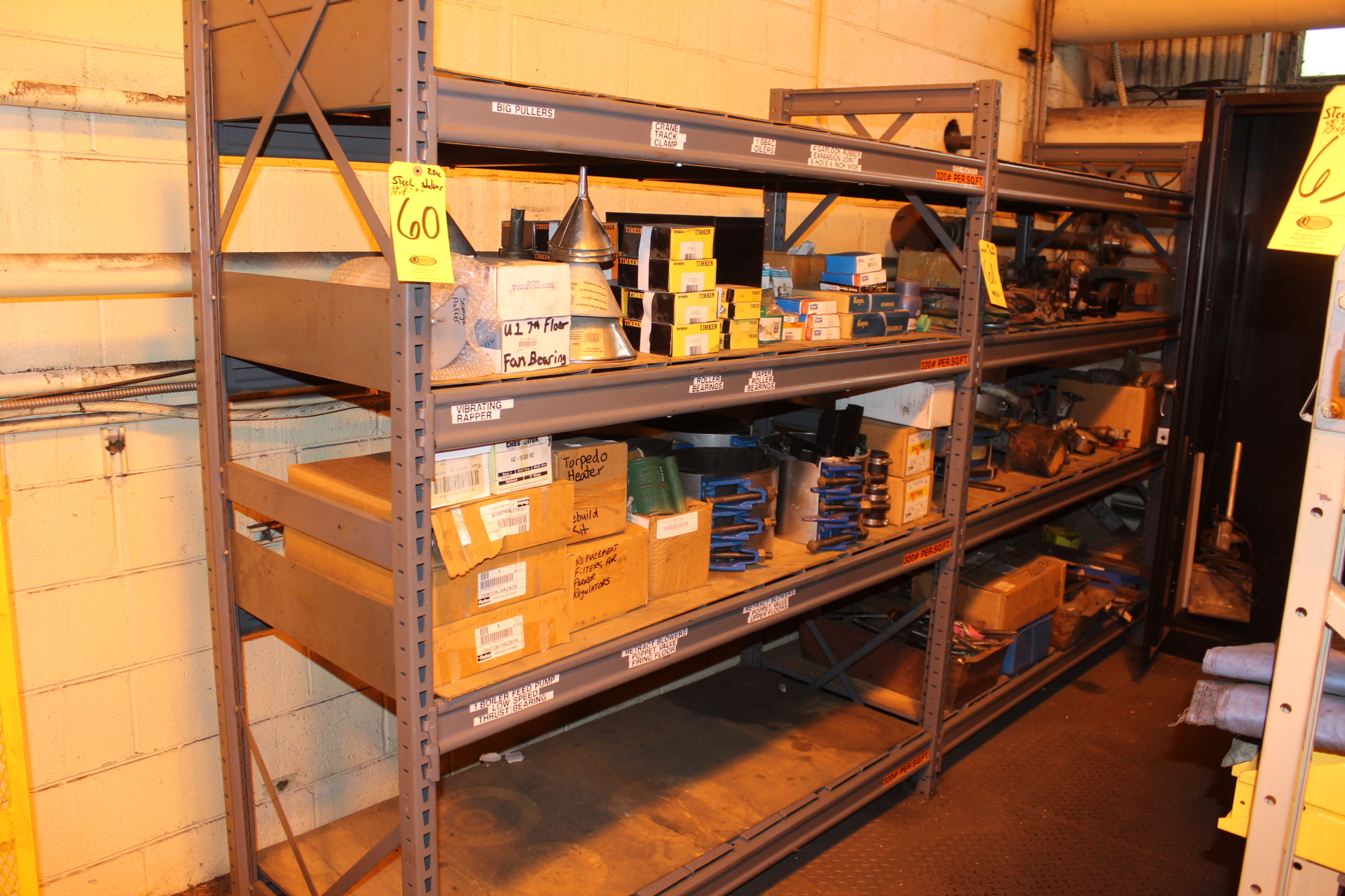 (2) SECTIONS STEEL SHELVES-NO CONTENTS