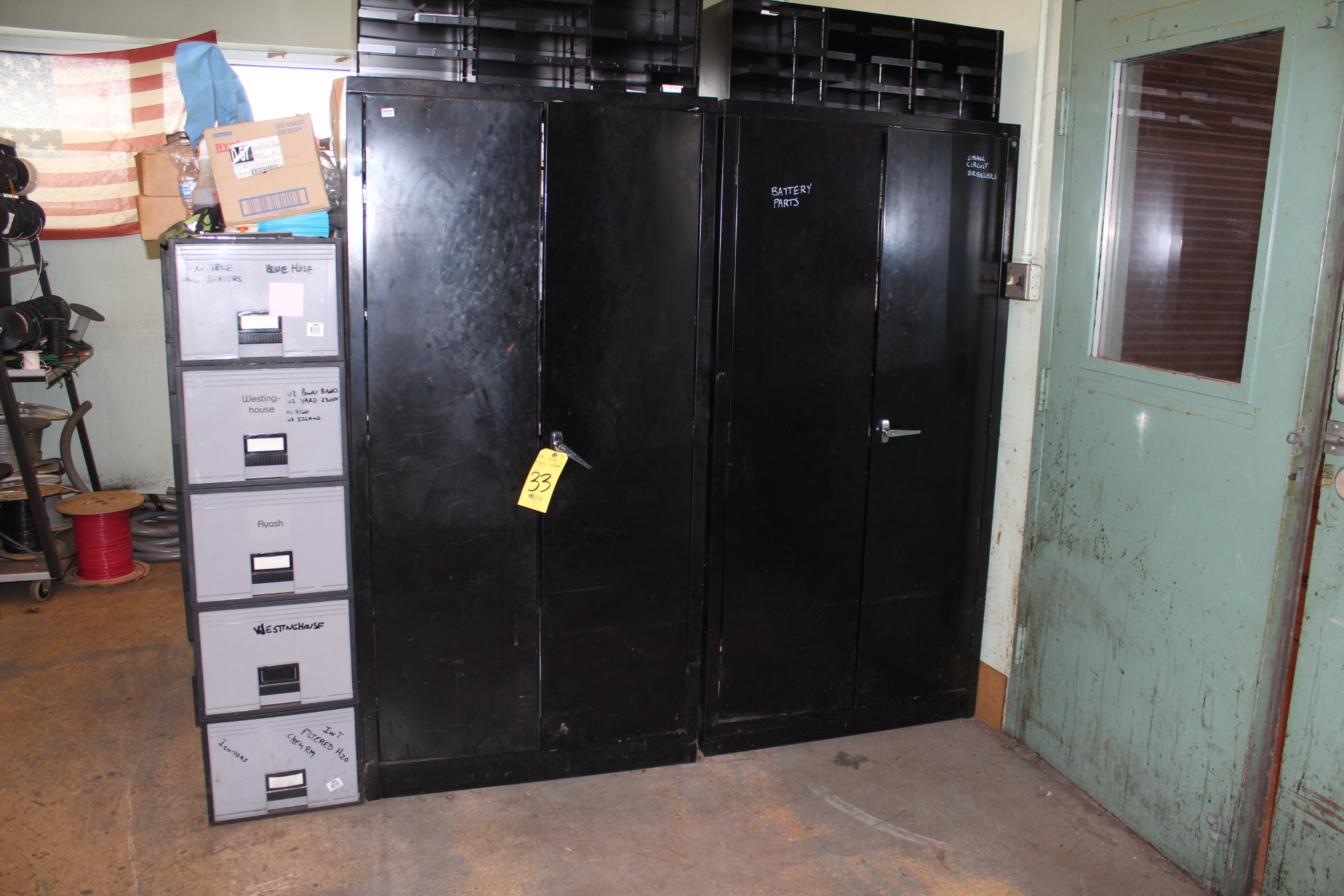 (2) DD SUPPLY CABINETS-NO CONTENTS
