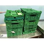 19 collapsible plastic Trays (located in Main Kitchen, Basement) **** please note this lot needs