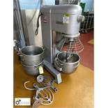 Hobart H300 floor standing Planetary Food Mixer, 415volts, with 3 bowls, whisk, 3 various paddles